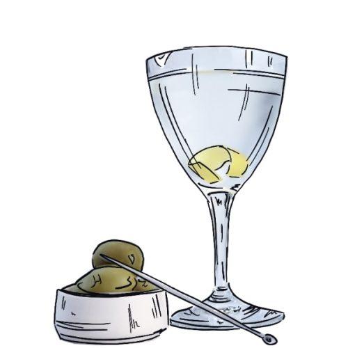 Dry martini illustration
