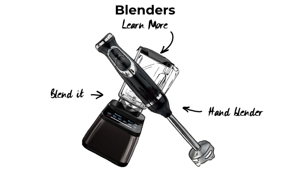 Cocktail equipment. Blenders to make cocktails at home.
