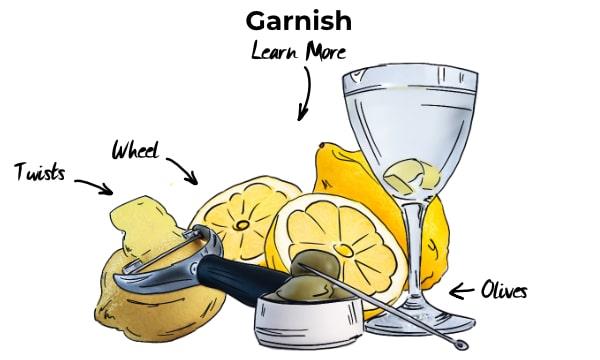 Garnishing cocktails