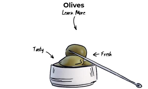 Olives in cocktails