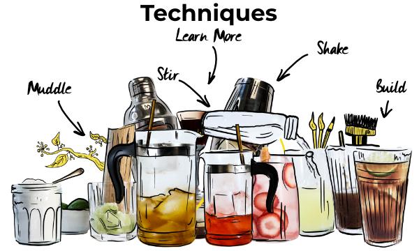 Cocktail Techniques guides
